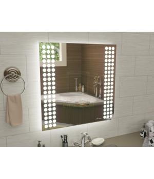 Квадратное зеркало с подсветкой для ванной Терамо 50x50 см