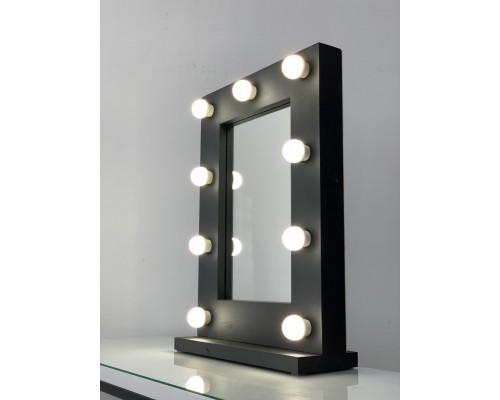 Настольное гримерное зеркало 60х45 с подсветкой лампами