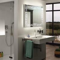 Зеркало со светодиодной подсветкой в ванную Каролина 50x50 см